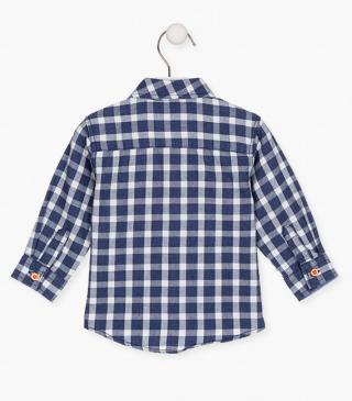 Check shirt crafted from cotton.