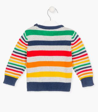 Striped knit jumper.