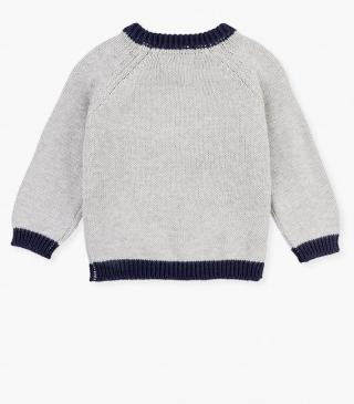 Knit jumper with embroidered details.