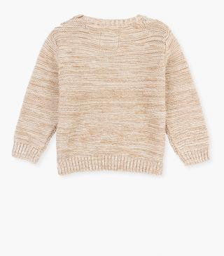 Two-tone knit jumper.