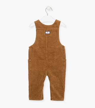 Button-front dungaree in corduroy.