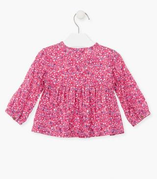 Floral detail blouse in pink.