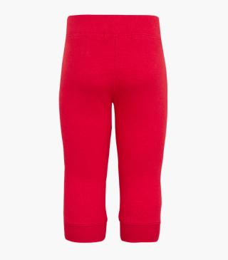 Plush trousers with rib-knit cuffs.