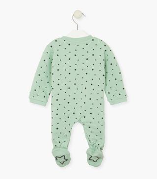 Printed star sleepsuit.