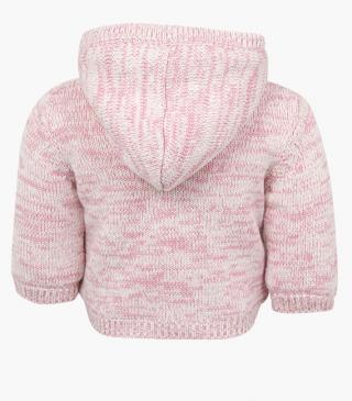 Giacca in tricot colore rosa.