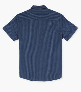 Striped shirt with chest pockets with a flap.