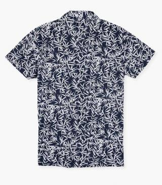 Print shirt in blue.