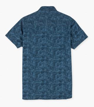 Print shirt in denim fabric.