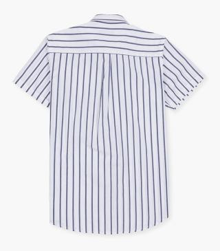 Striped cotton shirt.