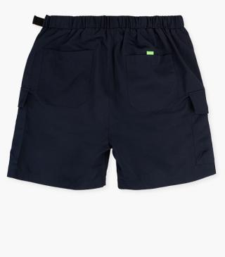 Shorts with side pockets with flaps.