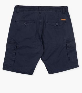 Stretch cotton shorts.