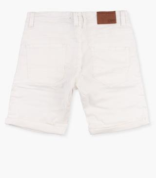 Coloured stretch cotton shorts.