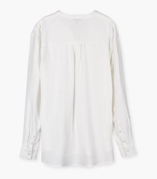 Silk-effect long sleeve shirt.
