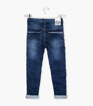 Plush denim jeans with cord.