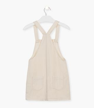 Ecru organic cotton dress.