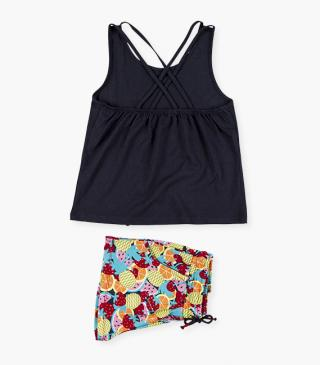 Fruit motif shorts & t-shirt set.