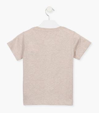 Brown organic cotton t-shirt.