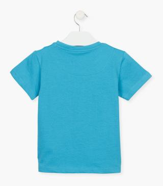 Short sleeve top in blue.