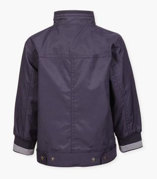 Reversible jacket in blue fabric.