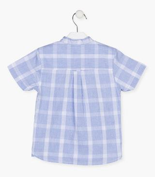 Checked cotton shirt.