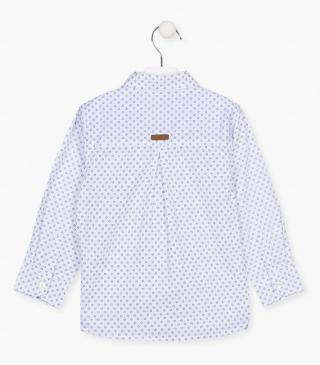 Print shirt in a cotton yarn.