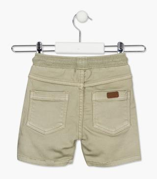 Brown denim plush shorts