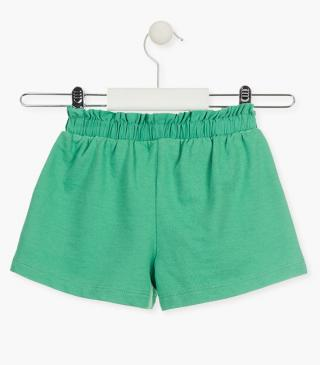 Cotton shorts with gathered waist.