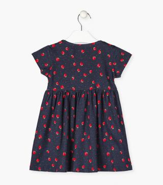 Strawberry print dress.