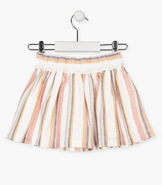 Striped cotton skirt.