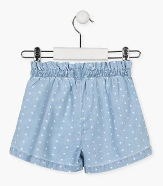 Cotton shorts with dots.