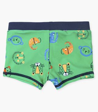 Swim boxer trunks with characters.