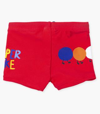 Swim boxer trunks with caterpillar.