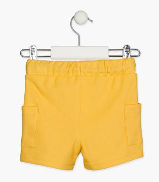Piqué fabric shorts.