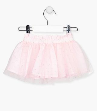 Pink tulle skirt.