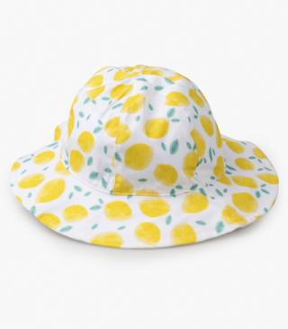 Lemon print hat.