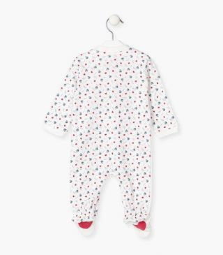 Pocket sleepsuit in ecru.