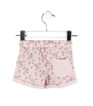Short rosa palo estampado.