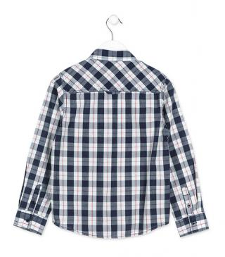 Cotton long sleeve shirt with chest pockets.