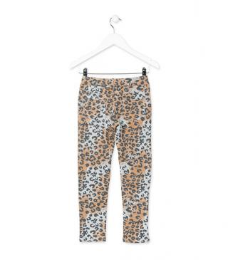 Leggins con estampado animal.