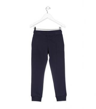 Plush trousers with drawstring.