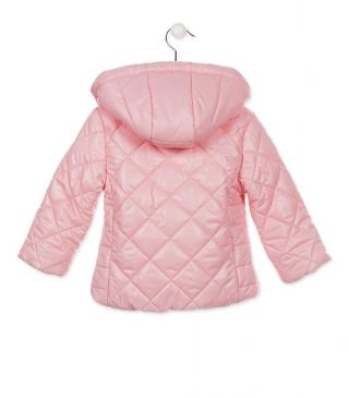 Quilted jacket with stretch cuffs and hemline.