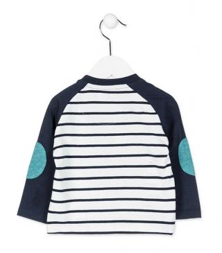 Marinière stripe t-shirt with elbow patches.