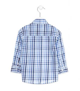 Long sleeve check shirt.