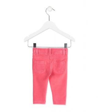 Jegging de color rosa.