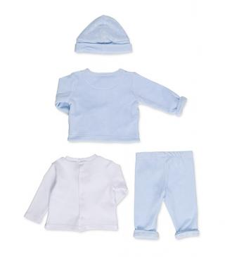 Jacket, top, trousers and hat set.