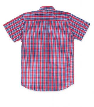 Polyester and cotton shirt with chest pocket.