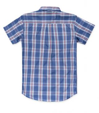 Short sleeve shirt in polyester and cotton fabrics.