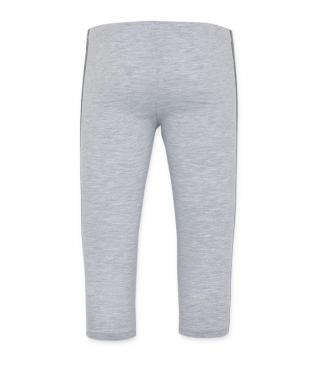 Leggins de color gris de punto.
