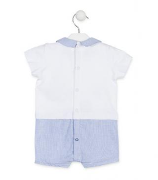 Checked Peter Pan collar romper.