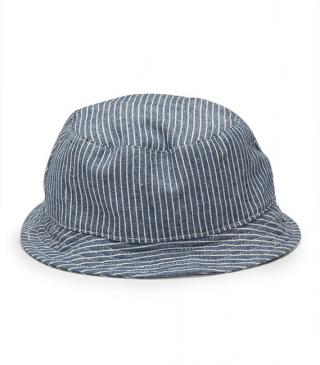 Striped cotton hat.
